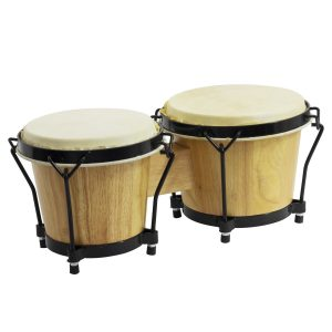 Playing the bongos to develop strong motor skills